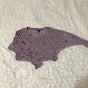 VICTORIA SECRET Purple Crop Pullover Top